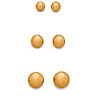 more details on 9ct Gold Ball Stud Earrings - Set of 3.