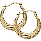 more details on 9ct Gold Swirl Effect Creole Earrings.