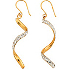 more details on 9ct Gold Cubic Zirconia Twist Drop Earrings.
