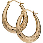 more details on 9ct Gold Hearts of Gold Oval Creole Earrings.
