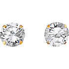 more details on 9ct Gold Cubic Zirconia Stud Earrings - 8mm.