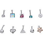 more details on Sterling Silver Nose Studs - Set of 10.