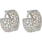 more details on Sterling Silver Fancy Huggie Earrings.