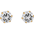 more details on 9ct Gold Cubic Zirconia Stud Earrings - 6mm.