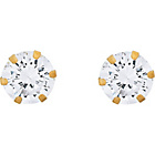 more details on 9ct Gold Cubic Zirconia Stud Earrings - 4mm.