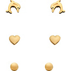 more details on 9ct Gold Stud Earrings - 3 pairs.