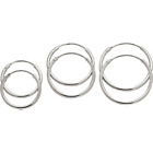 more details on Sterling Silver Hoop Earrings - Set of 3.