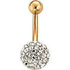 more details on 9ct Gold Glitter Ball Belly Bar.