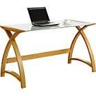 more details on Curve 2 Laptop Home Office Desk - Oak Effect.