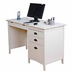 more details on New England 3 Draw Desk - White.