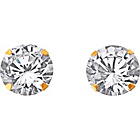 more details on 9ct Gold Cubic Zirconia Stud Earrings - 10mm.