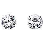more details on 9ct White Gold Round Cubic Zirconia Stud Earrings - 8mm.