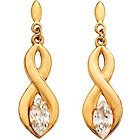 more details on 9ct Gold Figure of 8 Marquise Cut CZ Drop Earrings.