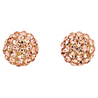 more details on 9ct Gold Crystal Champagne Glitter Ball Stud Earrings.