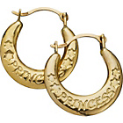 more details on 9ct Gold Princess Creole Earrings.
