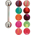 more details on Stainless Steel Interchangeable Tongue Bar - 10 Colours.