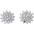 more details on Sterling Silver 1.00ct Look CZ Cluster Stud Earrings.