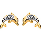 more details on 9ct Gold Andralok Dolphin Stud Earrings.