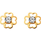 more details on Andralok 9ct Gold Flower Cubic Zirconia Stud Earrings.