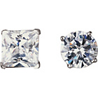 more details on Sterling Silver Cubic Zirconia Stud Earrings - Set of 2.
