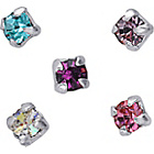 more details on Sterling Silver Crystal Nose Studs - Set of 5.