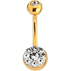 more details on 9ct Gold Plated Stainless Steel Crystal Belly Bar.