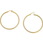 more details on Stirling Silver 9ct Bonded Gold Diamond Cut Creole Earrings.
