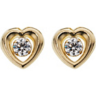more details on 9ct Gold Cubic Zirconia Heart Stud Earrings.