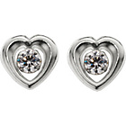 more details on 9ct White Gold Cubic Zirconia Heart Stud Earrings.