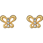 more details on 9ct Gold Crystal Set Butterfly Studs.