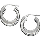 more details on Sterling Silver Double Hoop Creole Earrings.