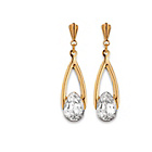 more details on 9ct Gold Cubic Zirconia Andralok Oval Drop Earrings.