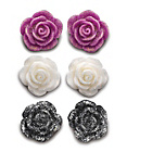 more details on Sterling Silver Rose Stud Earrings.