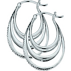 more details on Sterling Silver Diamond Creole Earrings.