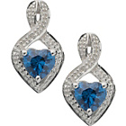 more details on Sterling Silver Tanzanite Coloured CZ Stud Earrings.