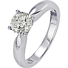 more details on 18ct White Gold 1.00ct Diamond Solitaire Ring - Size O.