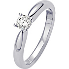 more details on Platinum 0.25ct Diamond Solitaire Ring - Size P.