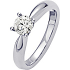 more details on Platinum 0.50ct Diamond Solitaire Ring - Size P.