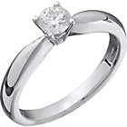 more details on Made for You 9ct White Gold 33pt Solitaire Ring - Size P.