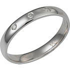 more details on Made for You 9ct White Gold Diamond 3mm Wedding Ring-Size M.