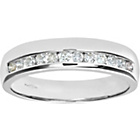 more details on Made for You 9ct White Gold Diamond 4mm Wedding Ring-Size K.