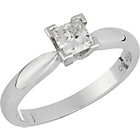 more details on Made For You 18ct White Gold 0.50ct Solitaire Ring