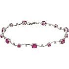 more details on 9ct White Gold Ruby and 0.10ct Diamond Bracelet.