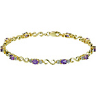 more details on 9ct Gold Amethyst and 0.10ct Diamond Bracelet.