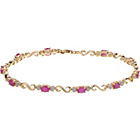 more details on 9ct Gold Ruby and 0.10ct Diamond Bracelet.