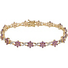 more details on 9ct Gold Amethyst and Diamond Bracelet.