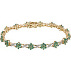 more details on 9ct Gold Emerald and Diamond Bracelet.