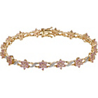 more details on 9ct Gold Pink Sapphire and Diamond Bracelet.