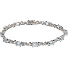 more details on 9ct White Gold Blue Topaz and Diamond Bracelet.