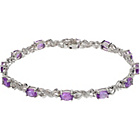 more details on 9ct White Gold Amethyst and Diamond Bracelet.